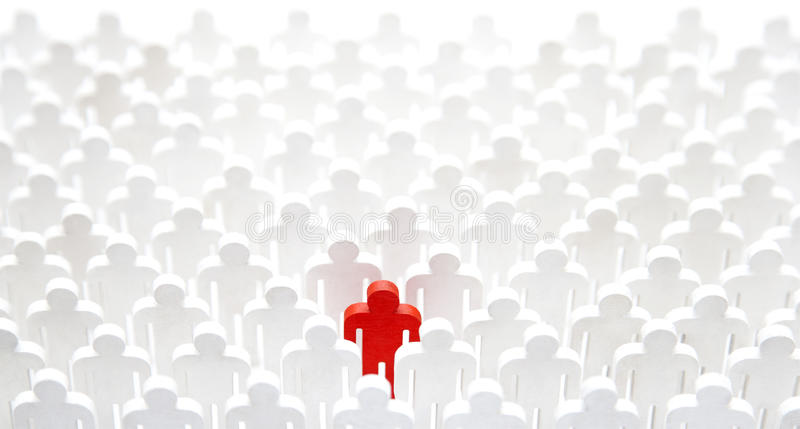 Unique person in the crowd royalty free stock photo