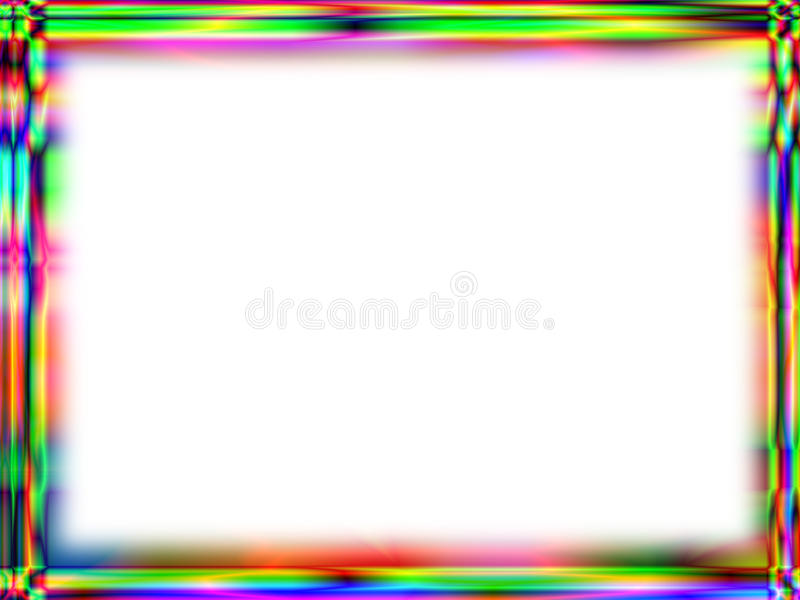Unique Rainbow Frame With White Empty Space Stock Photo - Image of ...
