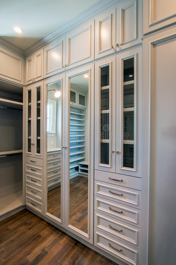 Unique Residential Home Closet Space royalty free stock image