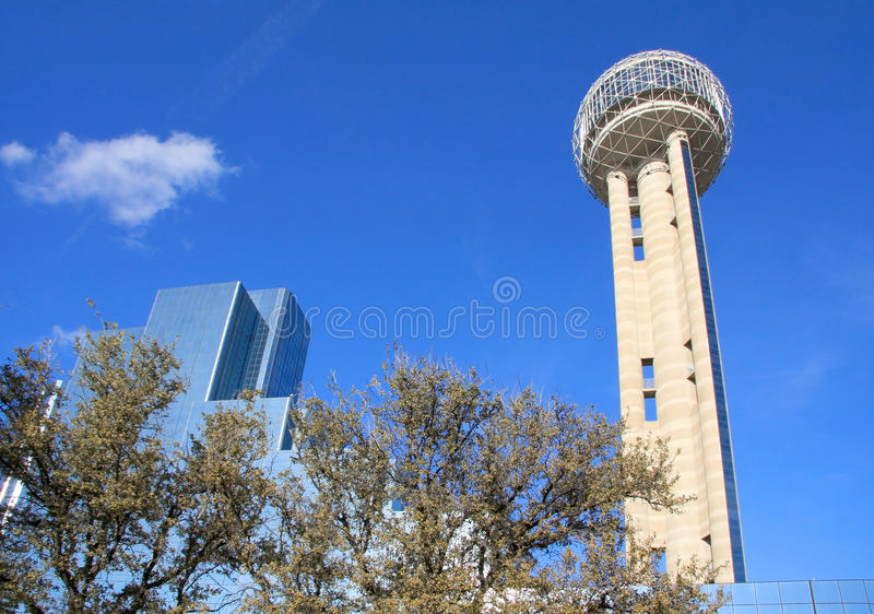 Unique Reunion Tower in Dallas. Beautiful Reunion Tower in downtown of Dallas,Texas royalty free stock images