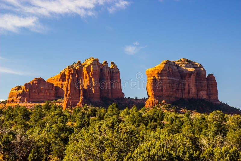 Unique Rock Formations In Arizona High Desert. Unique Rock Formations Showing Erosion And Layers In Arizona High Desert stock photos