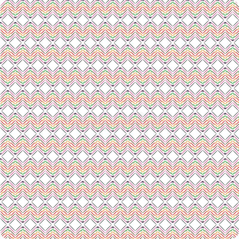 Unique Round Colorful Abstract Scribble Native Style Seamless Pattern Background vector illustration