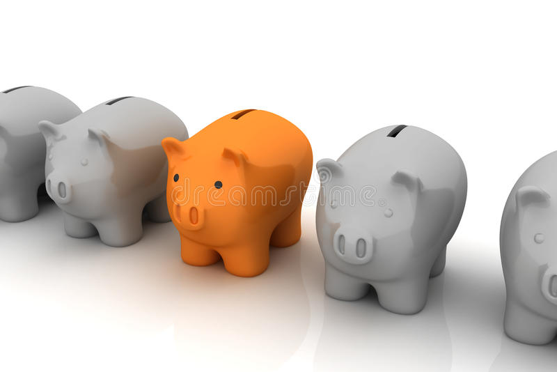 Unique Savings Plan Royalty Free Stock Images