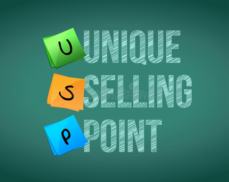Unique selling point concept illustration design stock illustration