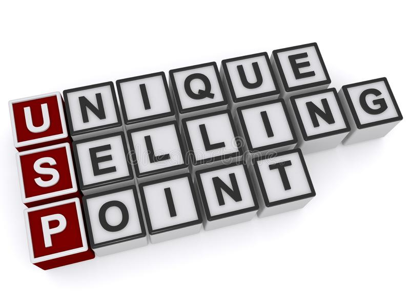 Unique selling point stock illustration