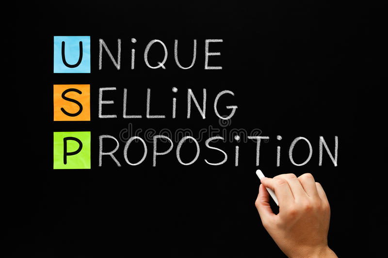 Unique Selling Proposition royalty free stock image