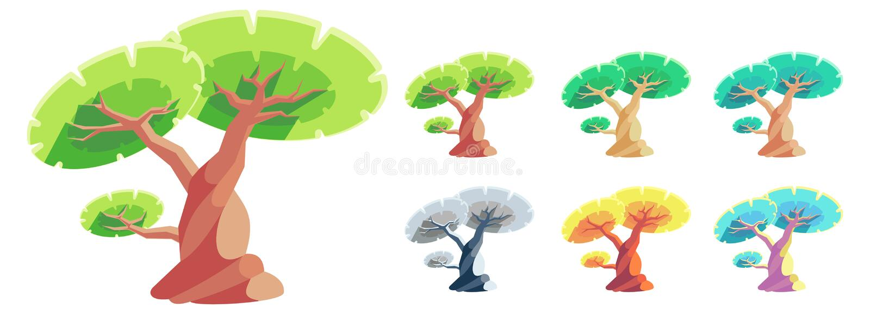 Vector Cartoon style Tree stock photography