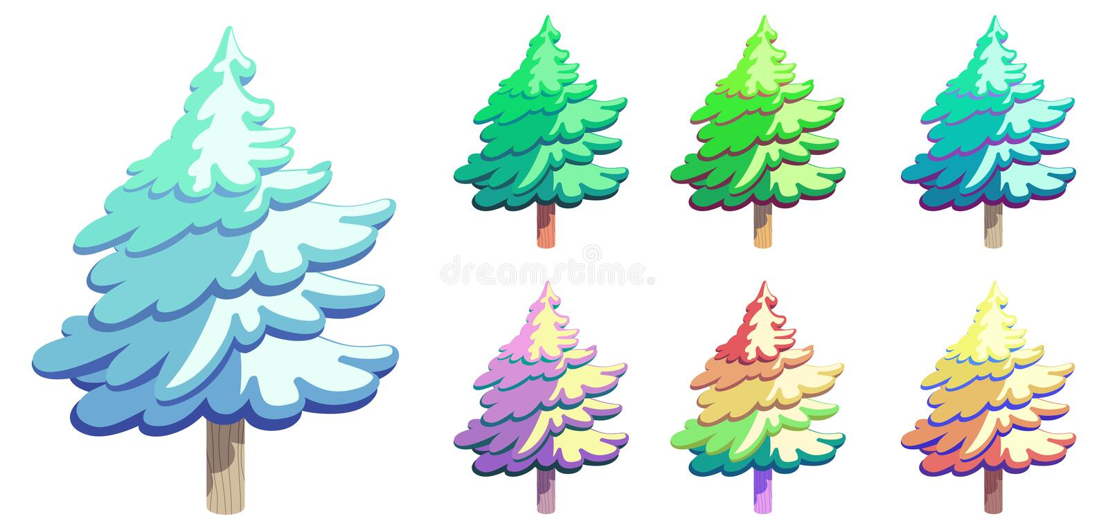 Vector Cartoon style Tree royalty free stock images