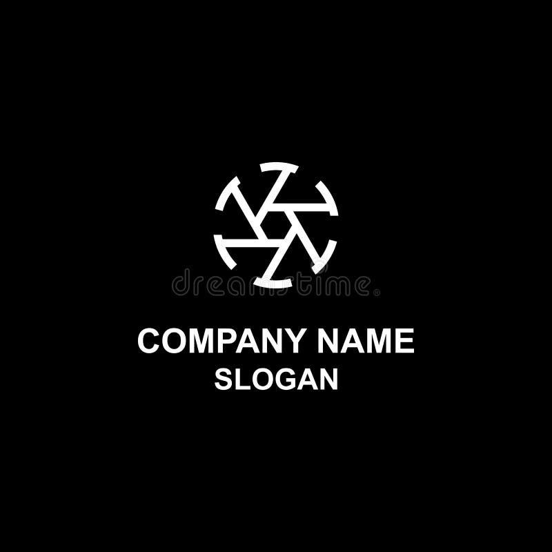 Unique shutter shape logo, for your photography business. stock illustration