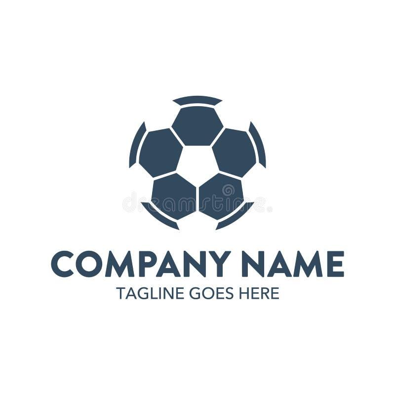 Unique soccer logo template. vector. editable stock illustration