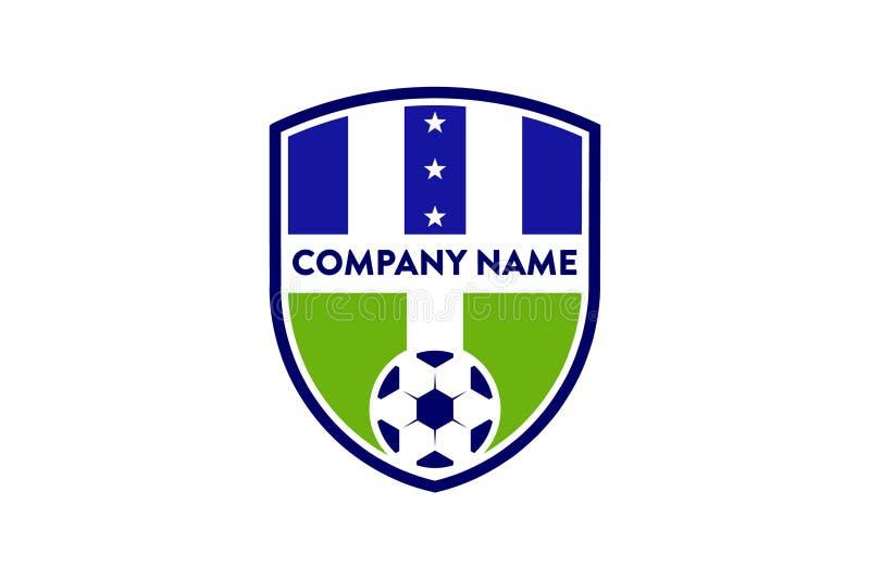 unique sport soccer football logo template stock vector