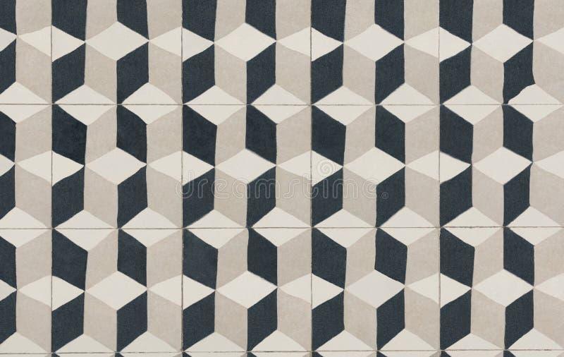 Unique tile design, Islam patterns, Escher like repetition tiled floor stock images