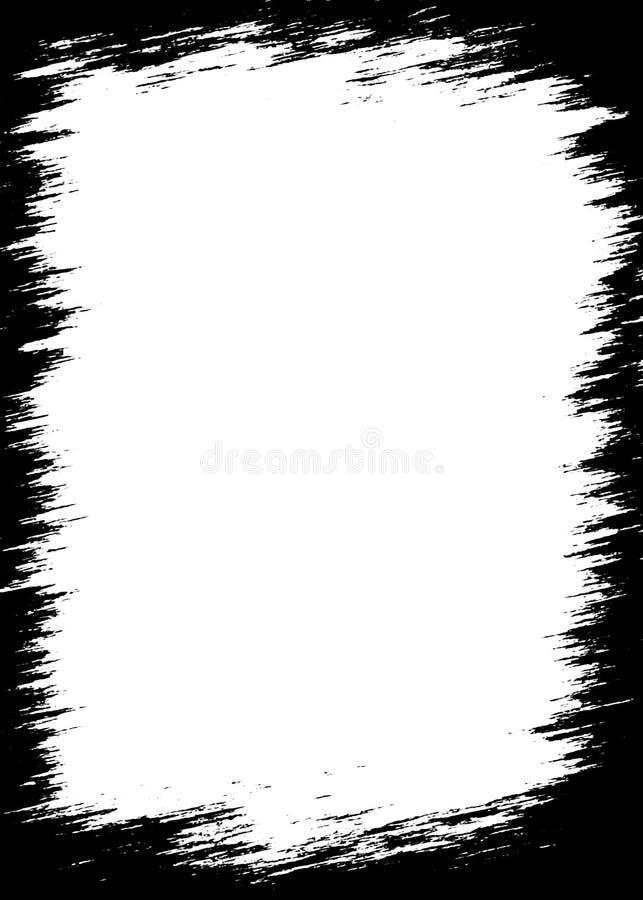 Abstract Black Photo Edges For Portrait Photos stock illustration