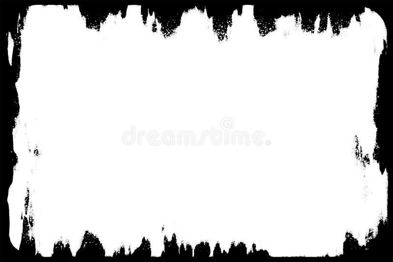 Torn & Ragged Black Photo Edges For Landscape Photos vector illustration
