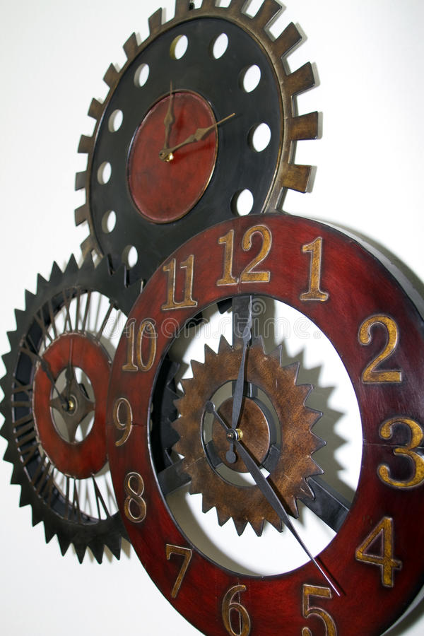 Download Unique Wall Clock stock image. Image of hand, gear, hours - 12930171