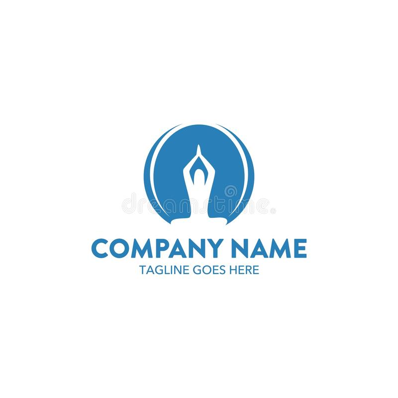 Unique Yoga Logo. Perfect for your company royalty free illustration