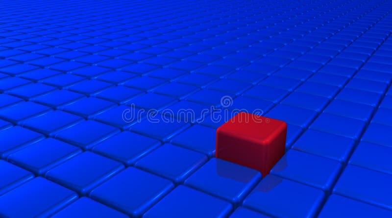 Uniqueness Cube stock illustration