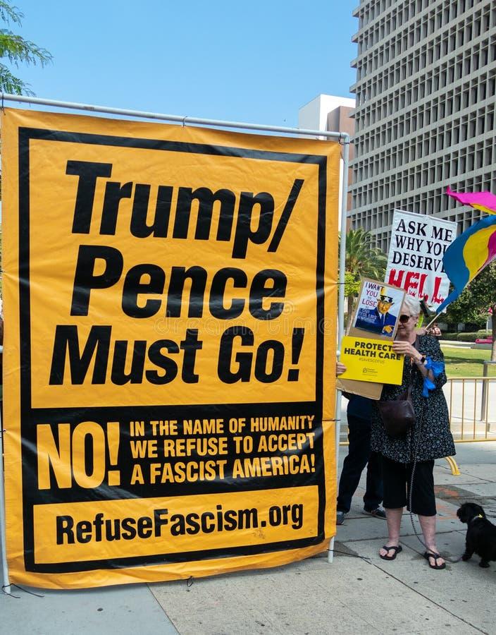 Unisca per la giustizia Rally Los Angeles fotografia stock