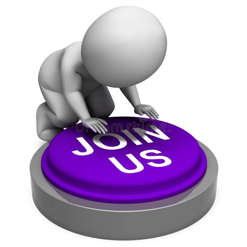 Uniscaci registrazione o appartenenza del club di mezzi del bottone illustrazione di stock