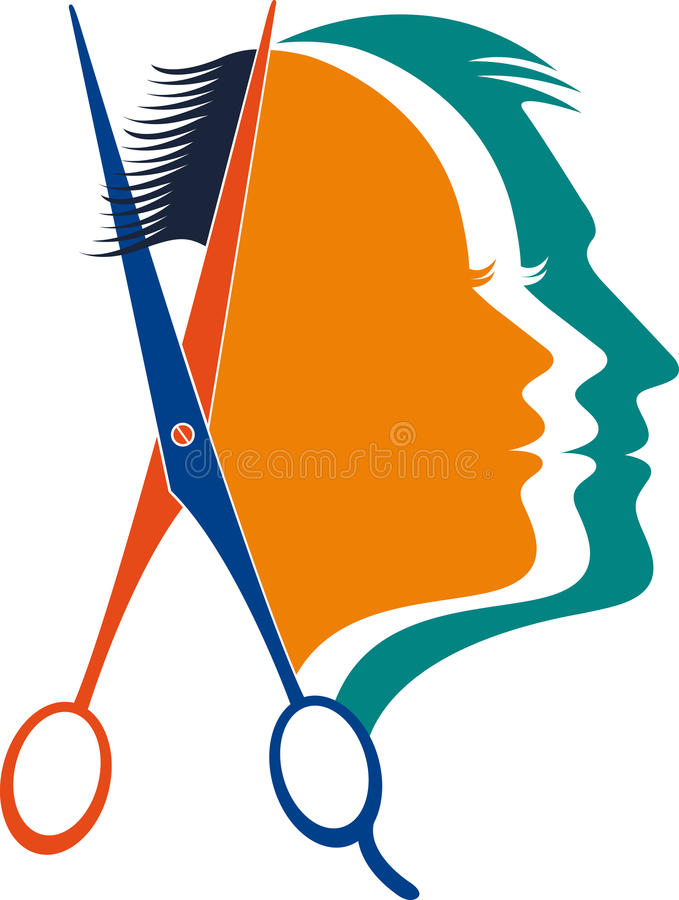 unisex beautician logo stock vector illustration of beautician rh dreamstime com beautician birthday clipart
