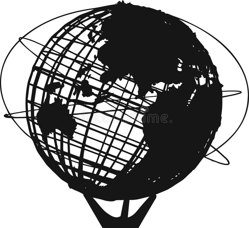 Unisphere illustration de vecteur
