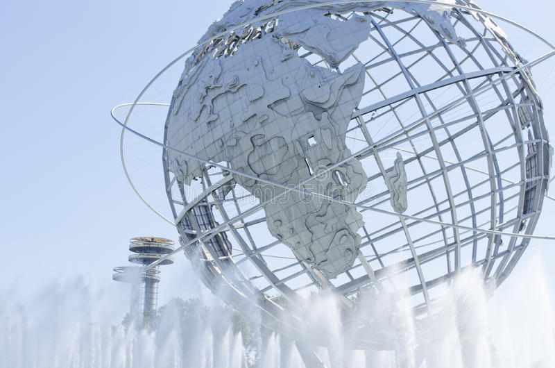 Unisphere in Flushing Meadows NY lizenzfreie stockfotos