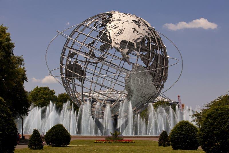 Unisphere w Fushing łąk korony słonecznej parku, queens - Nowy Jork zdjęcie stock
