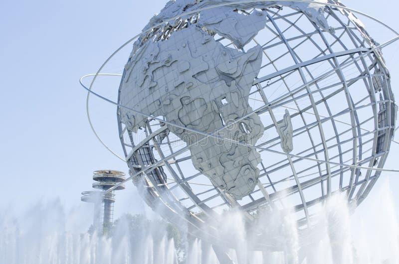 Unisphere w Rumienić się łąki NY zdjęcia royalty free