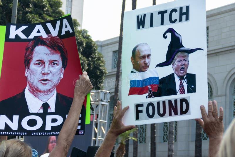 Unissez pour le juge Rally Los Angeles photo libre de droits