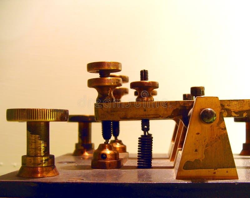 Unità del telegrafo dell'annata fotografia stock