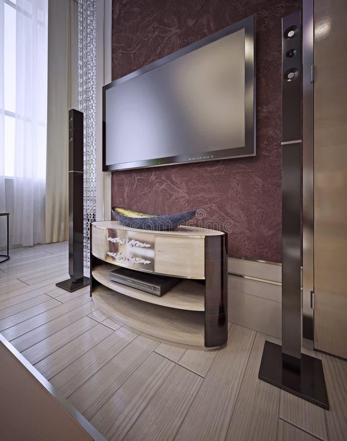 Unità della TV in uno stile classico lussuoso illustrazione di stock