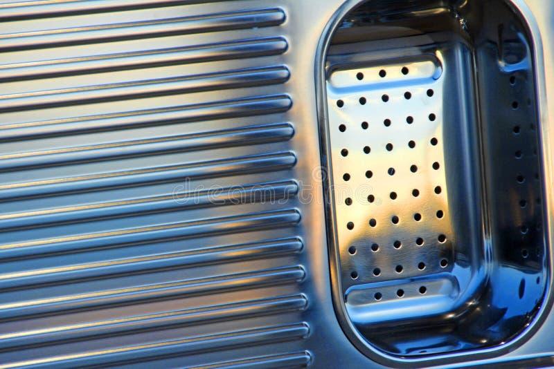 Unità dello scolapiatti del lavandino dell'acciaio inossidabile immagine stock