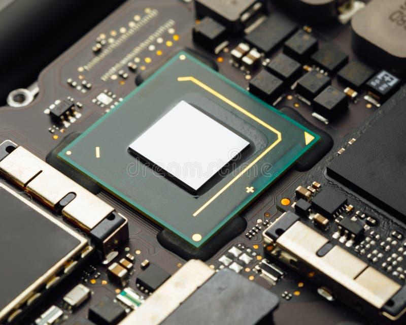 Unità di elaborazione del CPU di un computer portatile fotografie stock libere da diritti