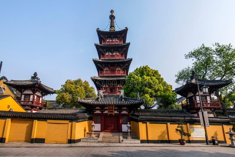 Unità di elaborazione Mingta del tempio di Suzhou Hanshan immagini stock