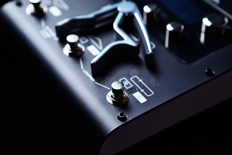 Unità di elaborazione di Multieffects per la chitarra elettrica immagine stock