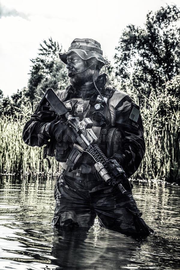 Unità di guerra della giungla fotografia stock