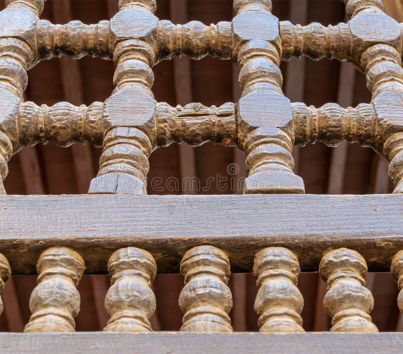 Unità di legno interfogliata di Arabisk degli ornamenti fotografia stock libera da diritti