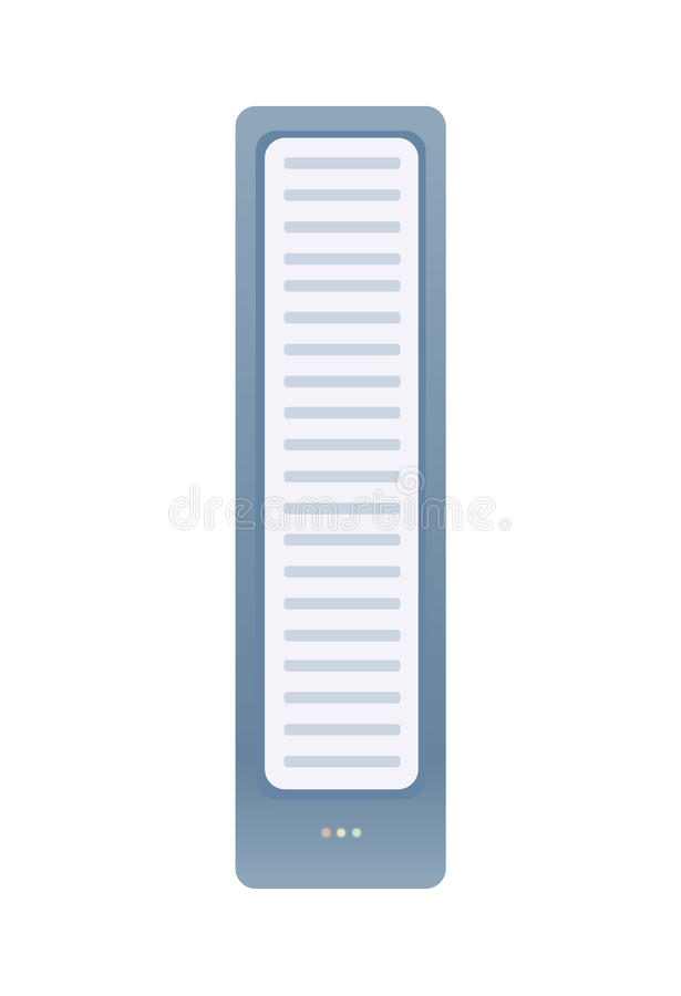 Unità di sistema o del server Illustrazione di vettore, isolata su bianco illustrazione di stock