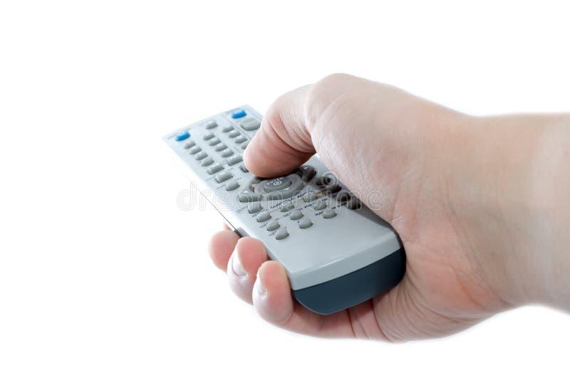 Unità di telecomando infrarossa a disposizione fotografie stock libere da diritti