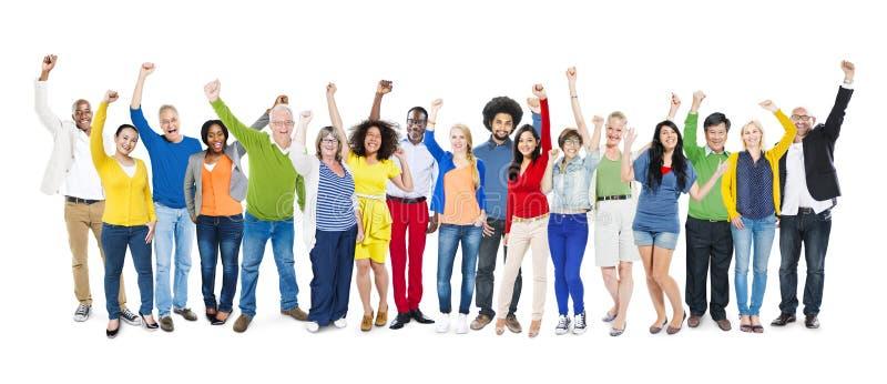 Unità Multi-etnica Te di unità di variazione di etnia di diversità immagini stock