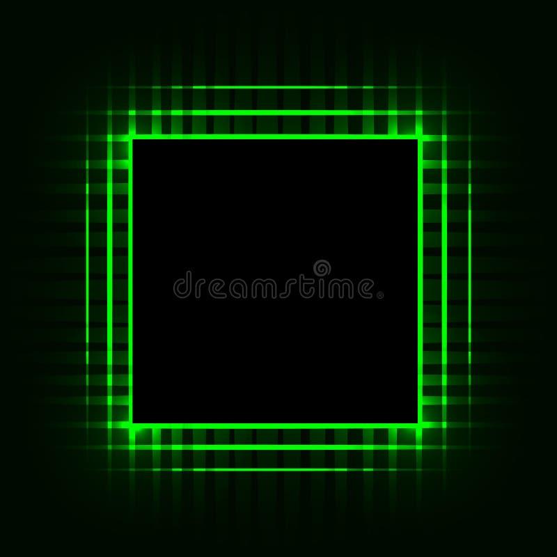 Unité centrale de traitement Carte électronique Carte mère puce Ordinateur abrégez le fond Image de vecteur illustration stock