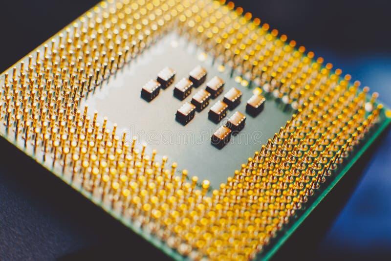 Unité centrale de traitement de composant de l'ordinateur de technologie de l'information images stock