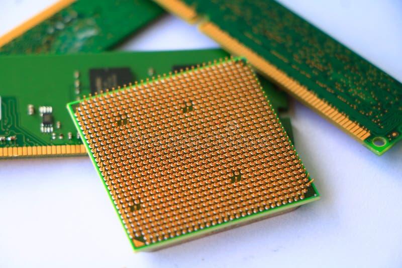 Unité centrale de traitement d'ordinateur et RAM photos stock