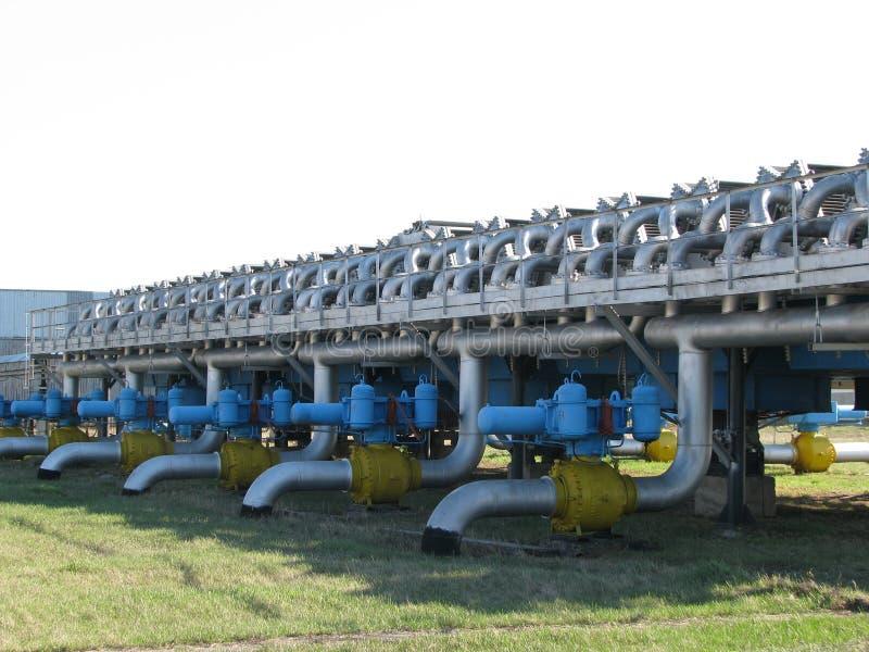 Unité d'appareil de chauffage de compresseur à gaz naturel photo libre de droits