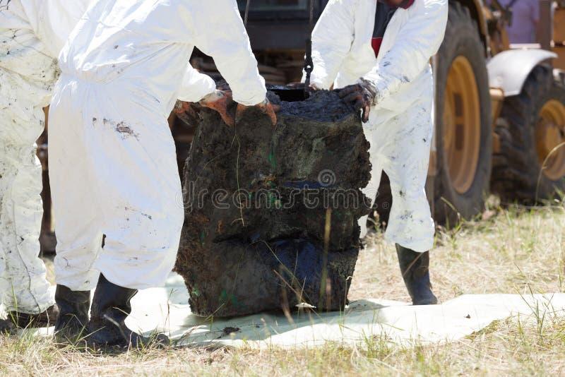 Unité de décontamination nettoyant la pollution toxique dans l'environnement image stock