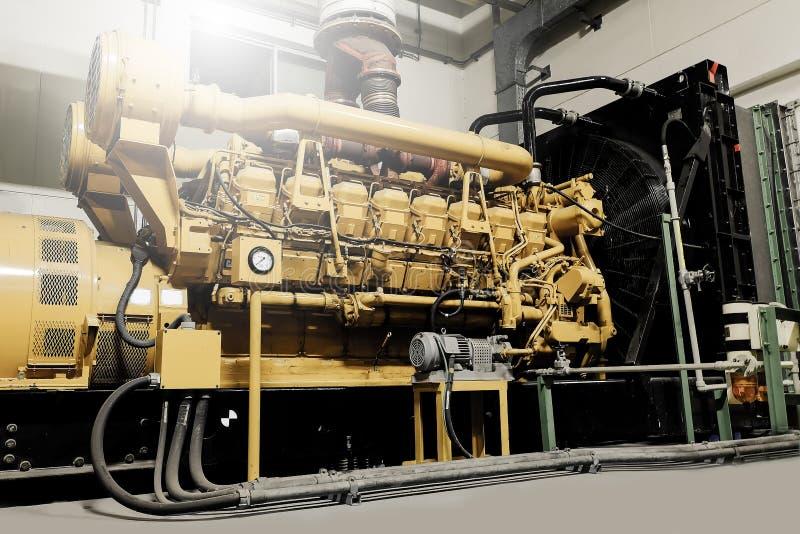 Unité diesel de générateur image stock