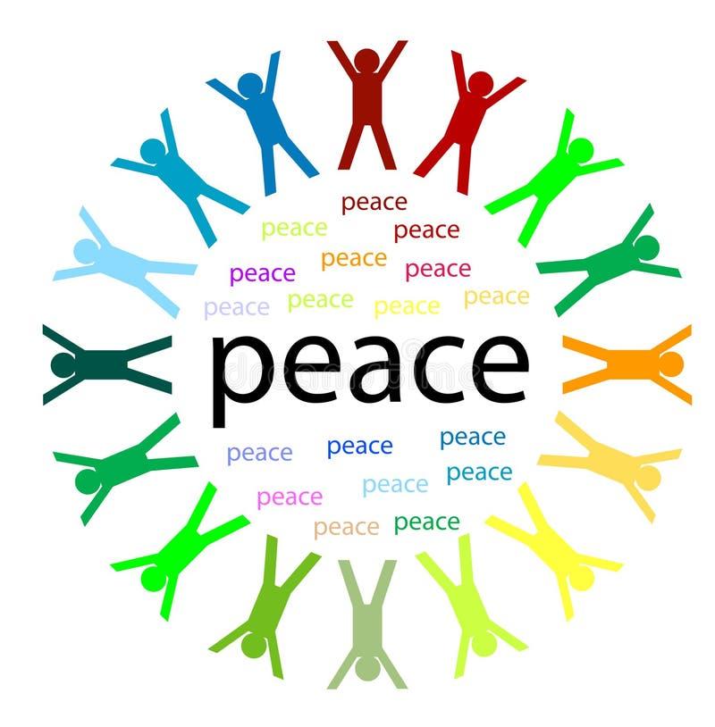 Unité et paix illustration de vecteur