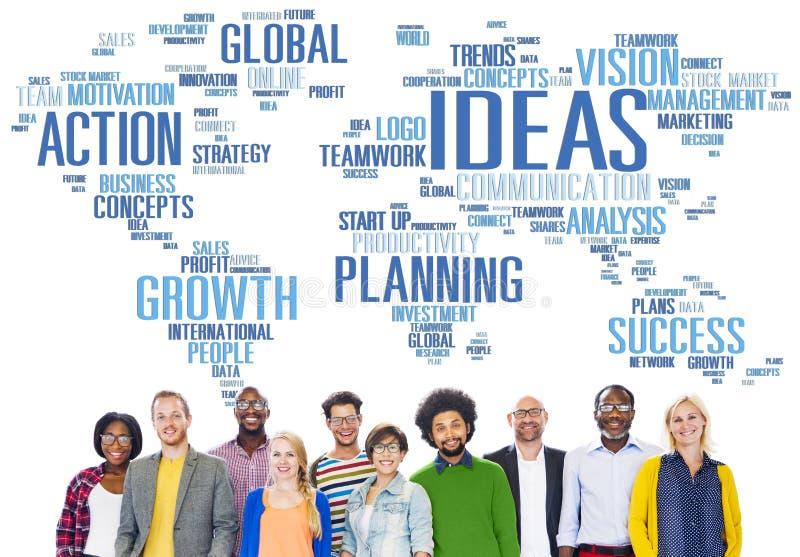 Unité globale Team Creativity Ideas Concept de personnes images libres de droits