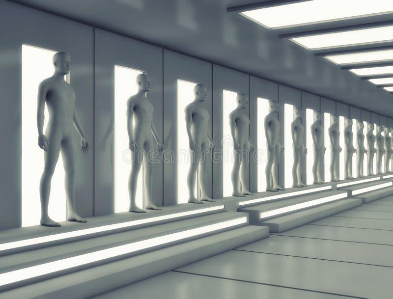 Unité humaine de clone illustration stock