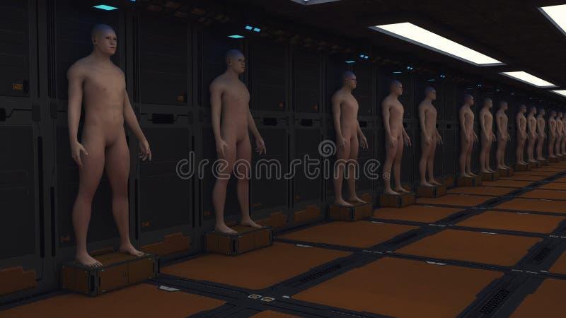 Unité humaine de clone image stock